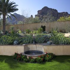 Landscape Retaining Wall Fountain Design, Pictures, Remodel, Decor and Ideas