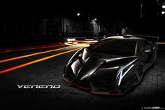 I was asked to do a front view of the Lamborghini Veneno Nero too ... who am I to deny that ...