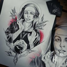 The Order Portfolio - The Order Custom Tattoos Latest Tattoos, Neo Traditional, Custom Tattoo, Black N White, Tattoo Sketches, 30, Tatting, Illustrations, Tatuajes