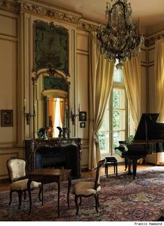 Historic Houses of Paris: Residences of the Ambassadors by Stella, Alain And Hammond, Francis, Flammarion, Paris. Many historic homes in Paris serve as residences to foreign ambassadors; these historical sites are closed to the general public. French Interior, Classic Interior, French Decor, Beautiful Interiors, Beautiful Homes, Chateau Hotel, Piano Room, Dream Rooms, My New Room