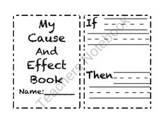 Cause and Effect Activities, Special Education Reading