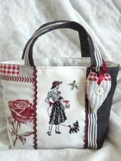 images attach c 7 124 736 Patchwork Bags, Quilted Bag, Handmade Handbags, Handmade Bags, Diy Sac, Linen Bag, Denim Bag, Fabric Bags, Shopper