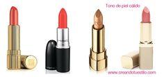 labiales para tono de piel cálida  http://creandotuestilo.com/2012/04/20/tips-de-maquillaje-color-de-labial-segun-el-tono-de-tu-piel/