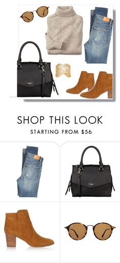 """""""Sans titre #36"""" by petzi ❤ liked on Polyvore featuring Citizens of Humanity, Fiorelli, Tory Burch, Ray-Ban and Aurélie Bidermann"""