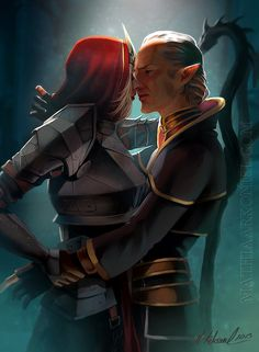 A Meredith and Orisno romance subplot might have helped make a deeper story in Dragon Age 2. At the very least maybe if she got some she wouldn't have been so tense all the time :P. ~Meredith and Orsino by MathiaArkoneil on deviantART