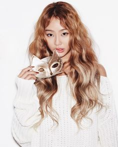 Sistar Hyorin ♡ She is so pretty!! I'm in love with her beautiful tan skin, alluring dark eyes, and long flowing hair in this photoshoot!