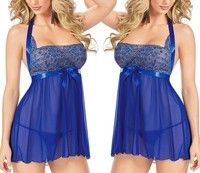 Wish | Women Sexy Lingerie BabyDoll Sleepwear Nightgown Dress Nightwear with G-String