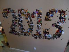 Graduation party ideas - Class of _____ spelled out in photos!