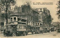 Motorized omnibuses Paris 1914