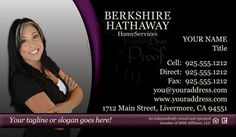 16 Best Berkshire Hathaway Business Cards Images Real Estate