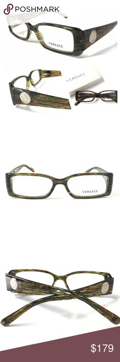 939bec7f3615 VERSACE Women s Eyeglasses NWOT Crystal Green VERSACE Women s Eyeglasses  Optical Frame Clear Crystal Green combination!