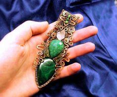 Treetop Duchess  Malachite Emerald Moldavite by MultiverseWithin