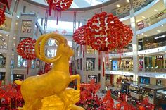 The majestic Golden symbolizing prosperity @ Chinese New Year Decorations, New Years Decorations, 2015 Chinese New Year, Golden Goat, Dinosaur Stuffed Animal, Blog, Ideas, Blogging, Thoughts