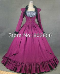 2013  Victorian Gothic Lolita/Marie Antoinette/civil war/Southern Belle Ball Gown Dress V 1148 US 6 26XS 6XL-in Costumes & Accessories from ... 155.OO$ FREE SHIPPING .,BUT JACKET REMOVES TO REVEAL SLEAVELESS BUST