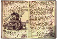 filmmaker Guillermo del Toro's #sketchbook for Pan's Labyrinth http://tellforward.blogspot.ca/2011/02/guillermo-del-toros-pans-labrynth.html  via @KChavda