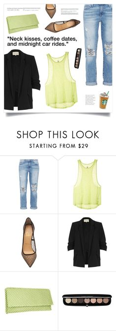 """Summer Nights"" by marina-volaric ❤ liked on Polyvore featuring Current/Elliott, Victoria's Secret, Christian Louboutin, River Island, Nina and Marc Jacobs"