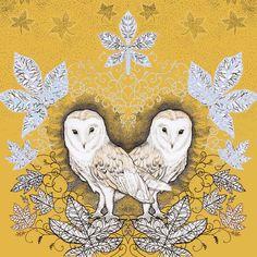 TW67 - Barn Owls greeting card