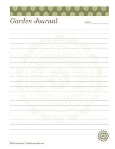 Print This Free Garden Planner: Printable Daily Garden Journal