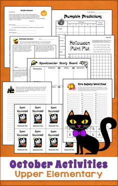 October Activities from Teaching Resources - Perfect for 3rd, 4th, and 5th grade! $ #LauraCandler