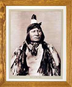 Bring home a bit of Native American culture by getting this amazing rain in the face Indian Chief Native American framed poster. The wooden brownrust frame of this poster will beautifully highlight the print of the poster. The frame is made from solid wood measuring 19x23 inches with a smooth gesso finish. Impact posters gallery also offers cheap frames art which are perfect for decorators on a budget. Hurry up! Make your order today.