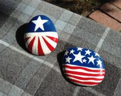 Celebrate the Nation! Hand Painted Rock - 4th of July