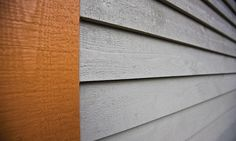 Barn Style House in Wood Siding Wood Siding, Exterior Siding, Cottage Exterior, House Siding, Colored Highlights, Reno Ideas, House Colors, Driftwood, Building A House