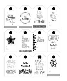 Etiquetas descargables para personalizar vuestros regalos Christmas Tag, Christmas Crafts, Xmas, Printable Labels, Printable Designs, Handmade Gift Tags, Web Design, Christmas Printables, Toy Store