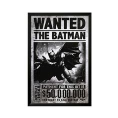 Art.com Batman Arkham Origins Wanted Framed Poster, Black ($190) ❤ liked on Polyvore featuring home, home decor, wall art, batman, backgrounds, pictures, posters, black, batman wall art and black home decor