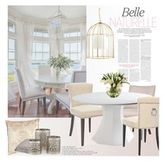 """dining"" by soyance ❤ liked on Polyvore featuring interior, interiors, interior design, home, home decor, interior decorating, Safavieh, Universal Lighting and Decor, Mineheart and Jane Wilner Designs"