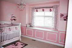 My daughters pink brown lady bug nursery