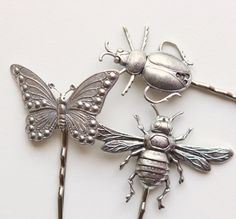metal insect hair clip set