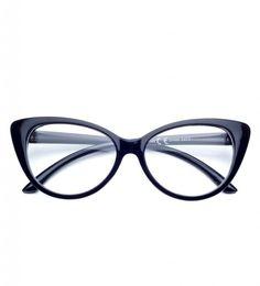 Pretoria, okulary zerówki damskie kolor czarny.