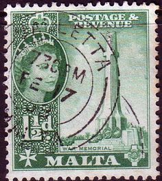 Malta 1956 War Memorial Fine Used                    SG 269 Scott 249 Other European and British Commonwealth Stamps HERE!