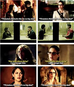 Thea & Felicity Oliver has some strong women in his life <3 #ArrowLadies