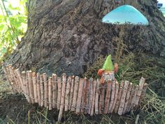 Fairy Garden Wooden Fence by LorrainsEmporium on Etsy