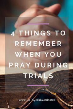 Often during hard times it's hard to pray. We feel weary from fervently seeking God and sometimes we just don't know what to say. Here are 4 things to keep in mind when you are praying. They will be a great addition to your current prayer strategy.