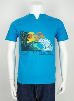 Vintage 1980's Classic Surf Printed T-Shirt by foundationvintage