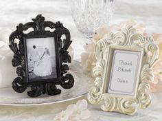 Baroque Wedding Place Card Holder and Photo Frame