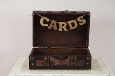 rustic wedding cardbox