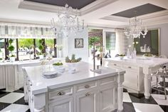 Kris Jenner is the matriarch of the most famous family on earth, and Kris Jenner house is proof of that success. We've got details about her home, plus more! Home Interior, Interior Design Kitchen, Home Design, Kitchen Decor, Design Ideas, Room Kitchen, Kitchen Ideas, Kitchen Floors, Kitchen Cabinets