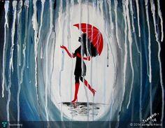 enjoying rain... #Creative #Art #Painting @touchtalent.com