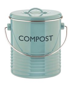 Look at this Blue Compost Caddy on #zulily today!