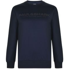 PAUL AND SHARK Heritage Logo Crew Sweatshirt ($175) ❤ liked on Polyvore featuring tops, hoodies, sweatshirts, crew neck sweatshirts, crew-neck tops, crew-neck sweatshirts, cotton crew neck sweatshirt and long sleeve cotton tops