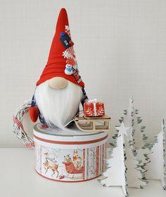 Fabric Christmas Trees, Felt Christmas Ornaments, Christmas Gnome, Christmas Tree Decorations, Halloween Decorations, Christmas Holidays, Fall Decor, Holiday Decor, New Years Decorations