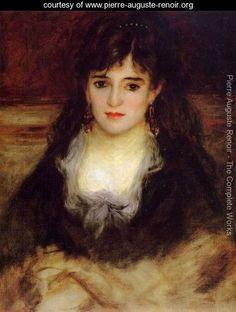 Portrait of a Woman (Nini Fish-Face) - Pierre Auguste Renoir - www.pierre-auguste-renoir.org