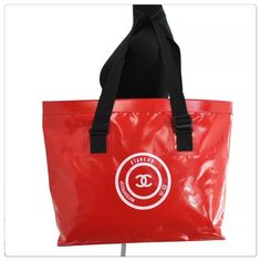 1ffd69fa3 The Chanel Waterproof Jumbo Boating Beach Red Tote Bag is a top 10 member  favorite on Tradesy. Save on yours before they're sold ...