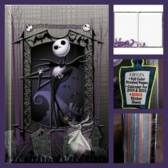 e76fcbd0679 Details about Nightmare Before Christmas Jack Skellington Journal Book With  Pen Set Hardbound