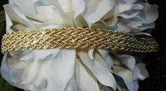 "14k Yellow Gold Wide Rope Bracelet 7"" Retail value $1500.00 - 11 grams #WideChevronBraided"