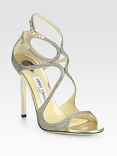 Jimmy Choo Lance Lamé Glitter Sandals <--i can't take it! too hot!! ♥ #shoegame #redcarpet