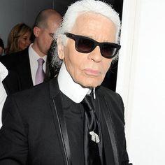 Karl Lagerfeld Doesn't Like Wearing Sweaters, Suspenders, or Flip-Flops - love this Q